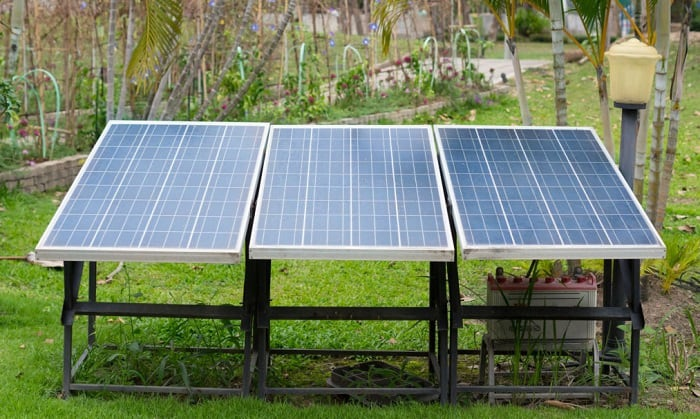 how many watt solar panel to charge deep cycle battery